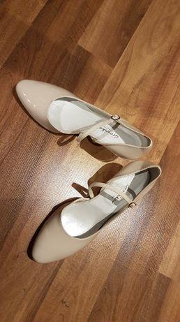 buty ślubne skórzane growikar r 40
