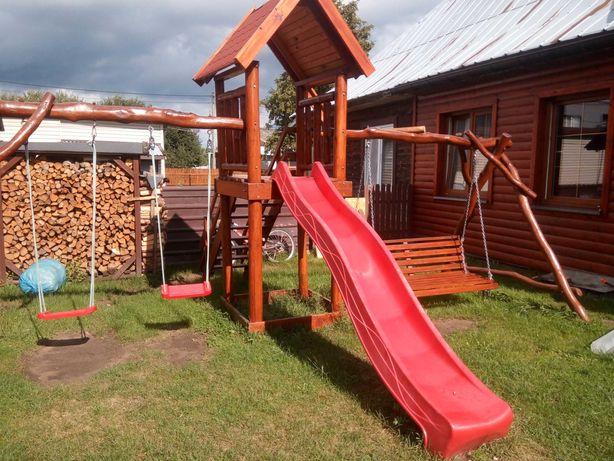 Plac zabaw wieża wieżyczka ślizg domek dla dzieci