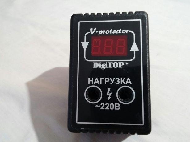 Реле напряжения в розетку DigiTop V-protector 6A