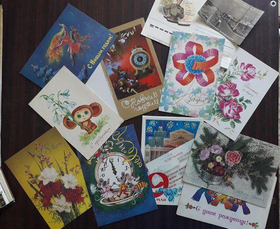 Советские почтовые открытки, наборы открыток