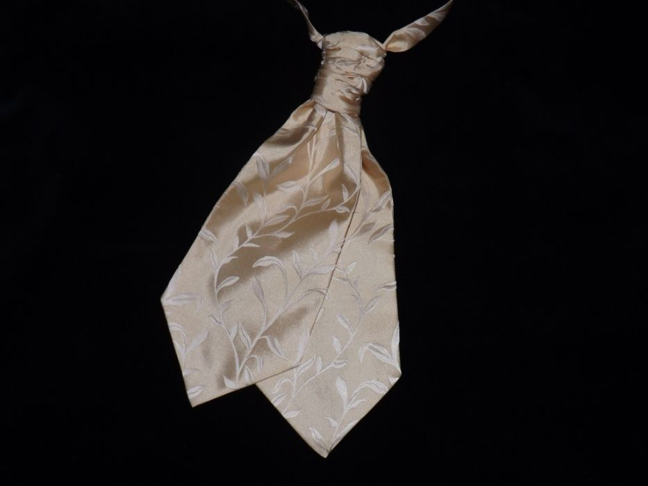 Галстук аскот, пластрон, натуральный шелк, жаккард. Николаев - изображение 1