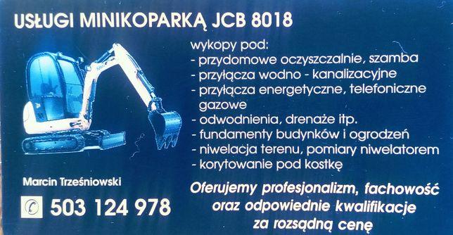 Usługi minikoparka drenaż,usługi budowlane,koparka,przewód elektryczny
