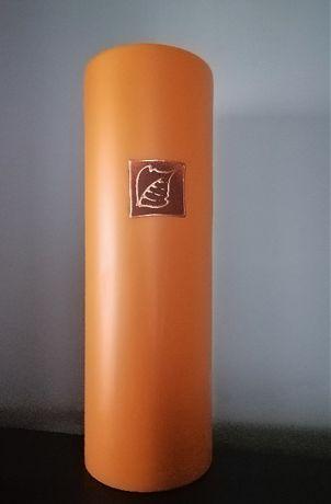 Ceramiczny pomarańczowy wazon - tuba