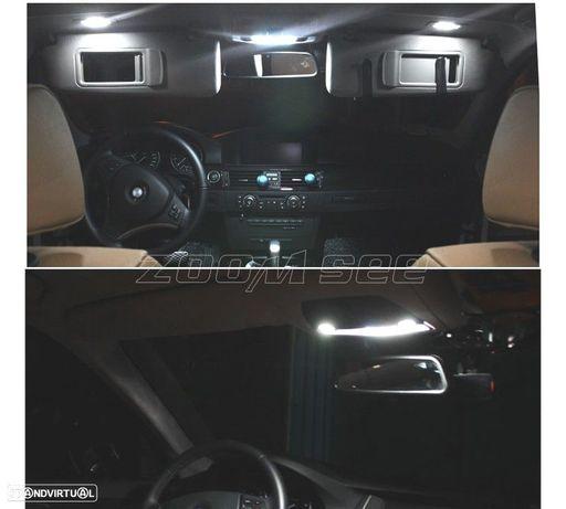 KIT COMPLETO DE 17 LÂMPADAS LED INTERIOR PARA BMW SERIE 3 F30 F35 F80 320I 328I 335I 340I XDRIVE AC