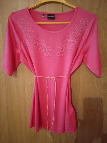 Bluzka różowa z krótkim rękawem