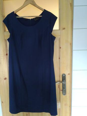 Granatowa, wizytowa sukienka r 44