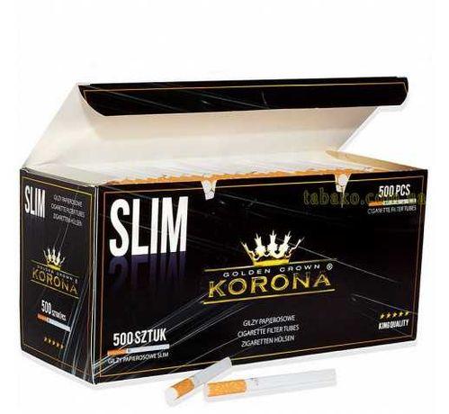 Сигаретные гильзы slim KORONA 500шт в упаковке