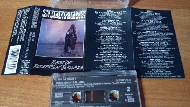 Scorpions – Best Of Rockers n' Ballads, UNIKAT ! KASETA MAGNETOFONOWA