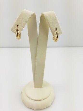 Złote kolczyki p 585 - PLUS Lombard