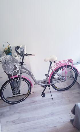 sprzedam rower miejski damski z koszykiem
