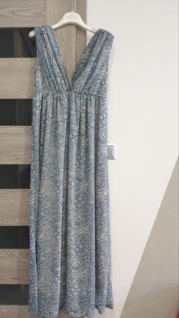 Długa letnia sukienka H&M rozmiar 38