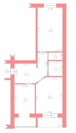 2к квартира Озерна Рауш в Зданій будівлі! HOT