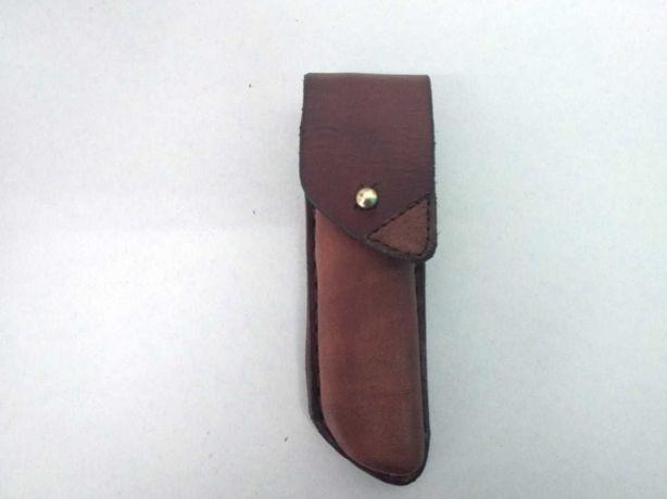 Кожаный чехол на заказ для раскладного ножа ручная работа hand made