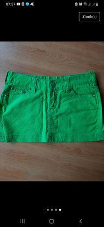 Spódnica spódniczka mini Zielona XS