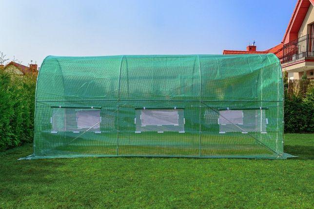 Tunel Foliowy ZIELONY z oknami - 9m2 , foliak szklarnia