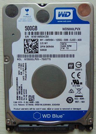 "Жесткий диск (HDD 2,5"") винчестер WD 500Gb SATA"