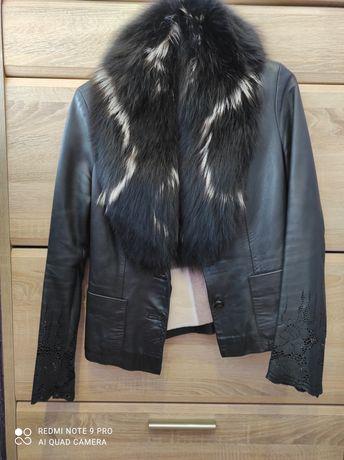 Кожаная куртка 42 размер