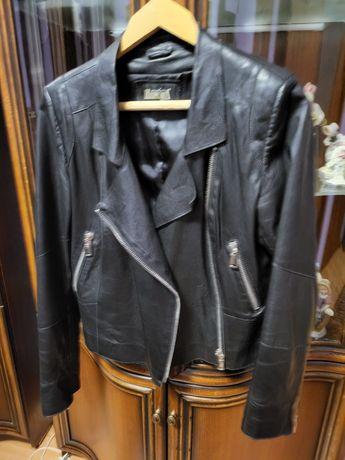 Кожаная куртка косуха, женская