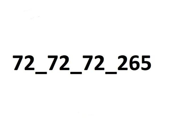 jak stacjonarny prosty 72_72_72_265 FIRMA Złoty numer