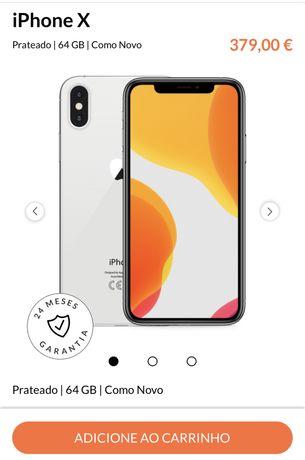 Vendo Iphone Xs 64g como novo