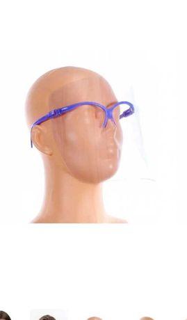 Przyłbica okularowa fioletowa