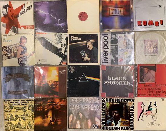 Płyty winylowe: Pink Floyd, Led Zeppelin, Hendrix, Sabbath, Xymon, Tin