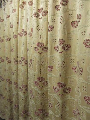 Дизайнерские шторы на подкладке с ажурной вышивкой 2,76 х 2,26 м