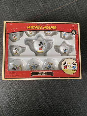 Набор детской игрушечной фарфоровой посуды Микки Маус