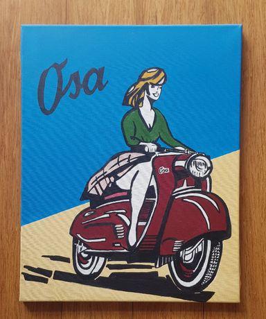 Obraz OSA ręcznie malowany