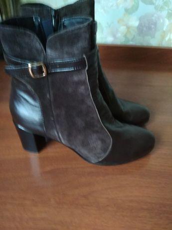 Осенние ботинки натуральная кожа и замша