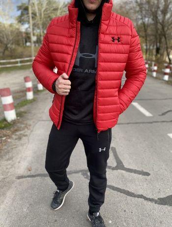 Супер СКИДКА!Мужская куртка зима-весна черный/тёмно-синий/хаки/красный