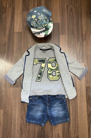 Пиджак и джинсовые шорты next для мальчика 5 лет.
