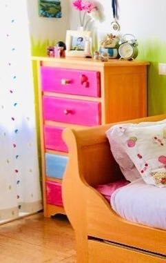 Camiseiro 5 gavetas - quarto de menina