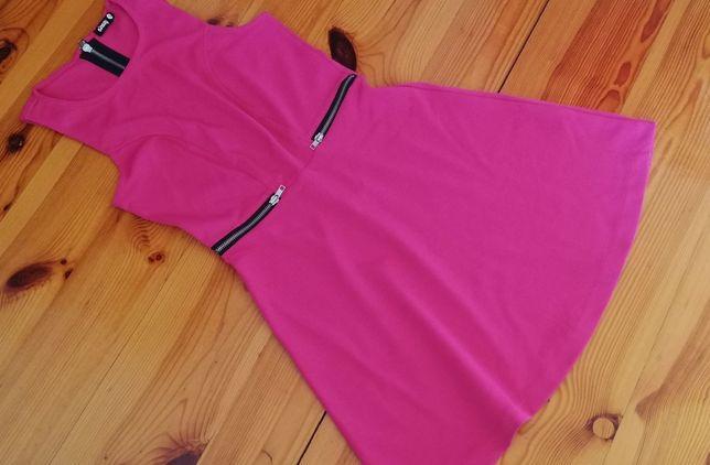 Sukienka różowa Sinsay S 36 letnia suwaki