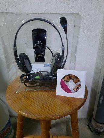 Webcam 1.3mp com microphone incluído novo a estriar posso mostrar