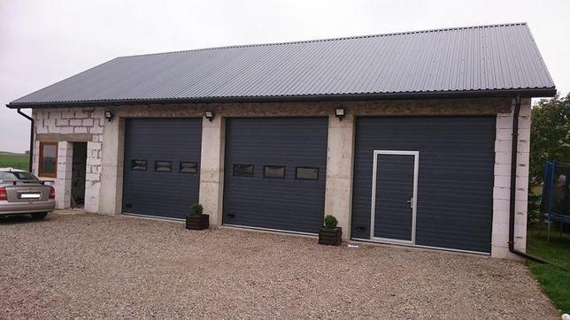 Ocieplana brama segmentowa garażowa przemysłowa bramy garażowe Puławy