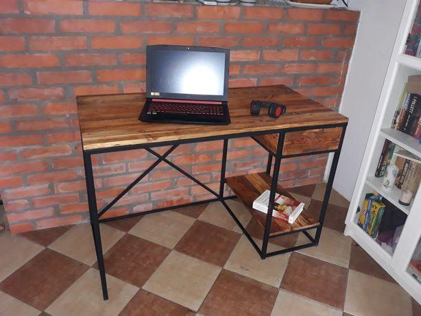 Biurko z szufladą, stare deski
