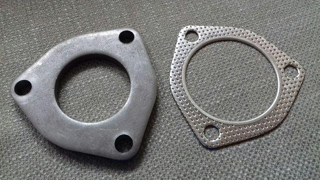 Wydech tłumik kryza flansza + uszczelka 55 mm 3 otwory
