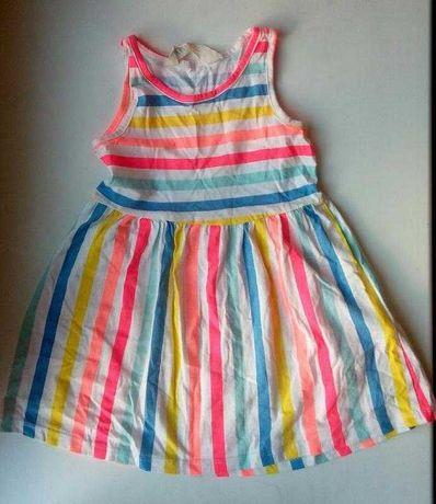 Хлопковое платье сарафан в полоску полосатое H&M