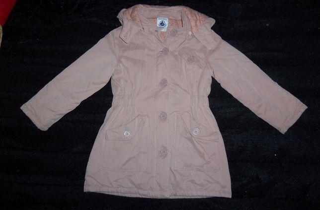 Śliczna zimowa kurtka ala płaczszyk dziewczęca, 126, z kapturem