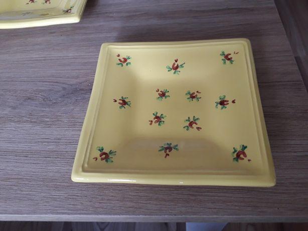 Porcelanowe talerzyki w stylu prowansalskim