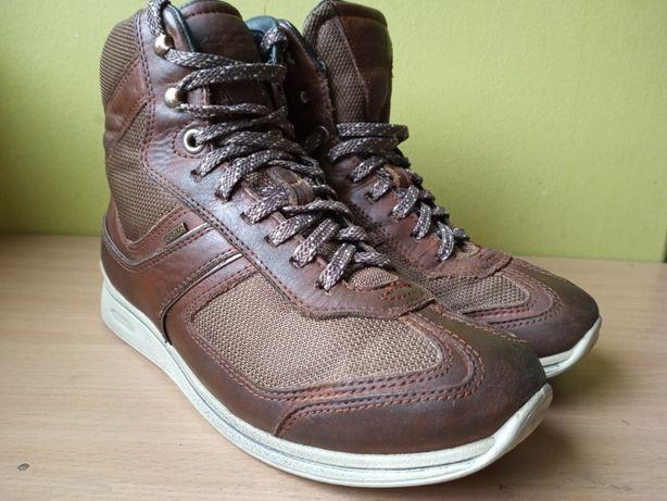 ECCO 36 Miejskie Sneakersy Nieprzemakalne z membraną GORE-TEX Skóra