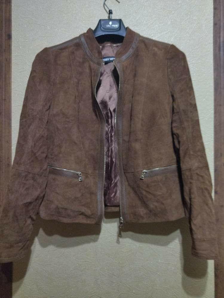 Замшевая куртка жакет Gerry Weber. Размер 50
