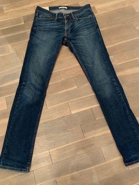 SPODNIE jeansy ABERCROMBIE & FITCH jak nowe oryginał 29x32 SKINNY