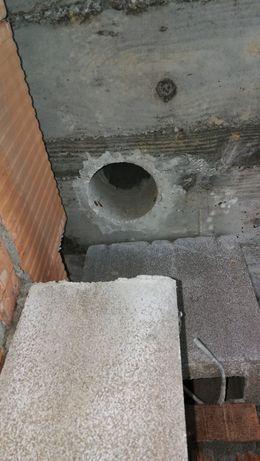 Wiercenie diamentowe w betonie , ścianach i stropach na mokro
