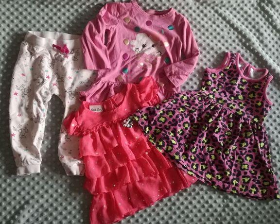 Zestaw ubranek dla dziewczynki roz. 86-92, 50szt + dużo gratisów