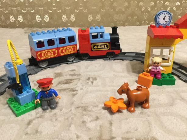 Набор Лего Дупло, железная дорога, оригинал.