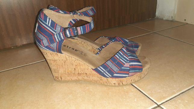 Sandały firetrap,39,buty letnie na koturnie