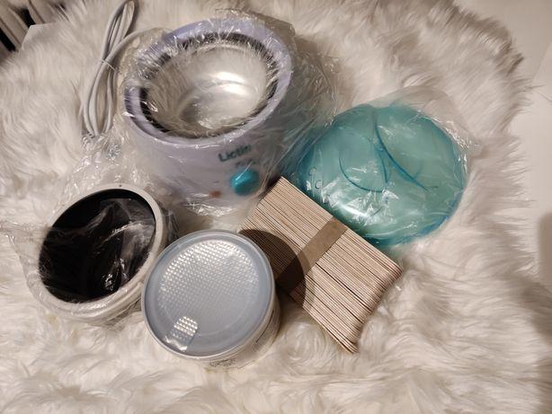 LICTIN Podgrzewacz wosku depilacja + WOSK + patyczki