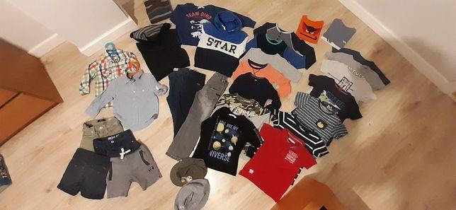 Paka ubrań, ubranka dla chłopca 2-4 lata rozm. 104-110